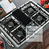 "Stove Burner Covers- Reusable Gas Range Protectors,Non-stick Stovetop Burner Liner Cover-Size 10.6""x 10.6""-Double Thickness 0.2mm,FDA Approved,Dishwasher Safe, Heat-resistant,8 Black Pack"