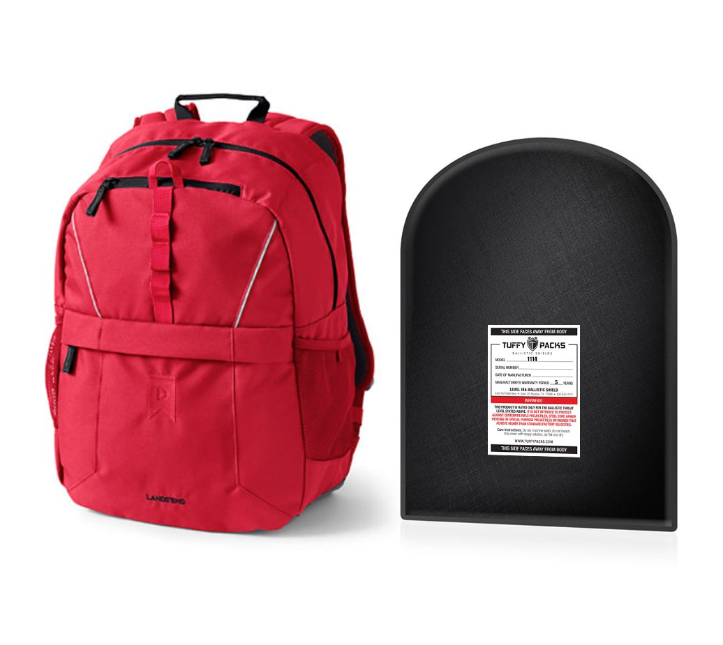 Bulletproof Insert For Small Backpacks. 11''x14'' Level IIIA. Shield Only.
