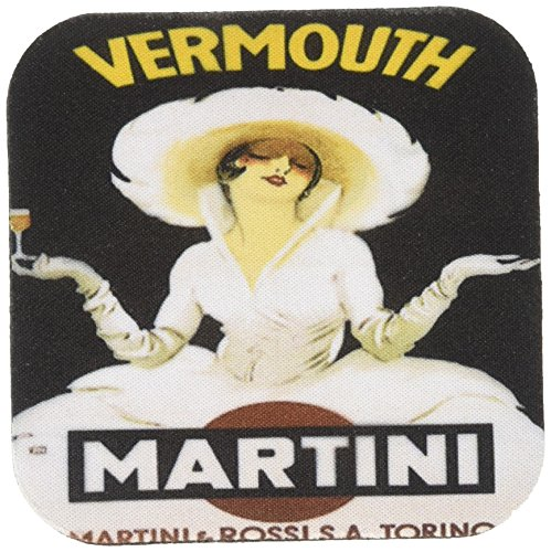 3dRose cst_129949_1 Vintage Martini and Rossi Advertising Poster-Soft Coasters, Set of 4