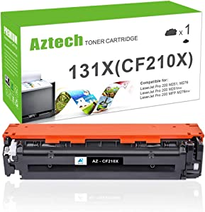 Aztech Compatible Toner Cartridge Replacement for HP 131X CF210X 131A CF210A for Laserjet Pro 200 Color MFP M276nw M251nw MF8280Cw M276n M251n (Black, 1-Pack)