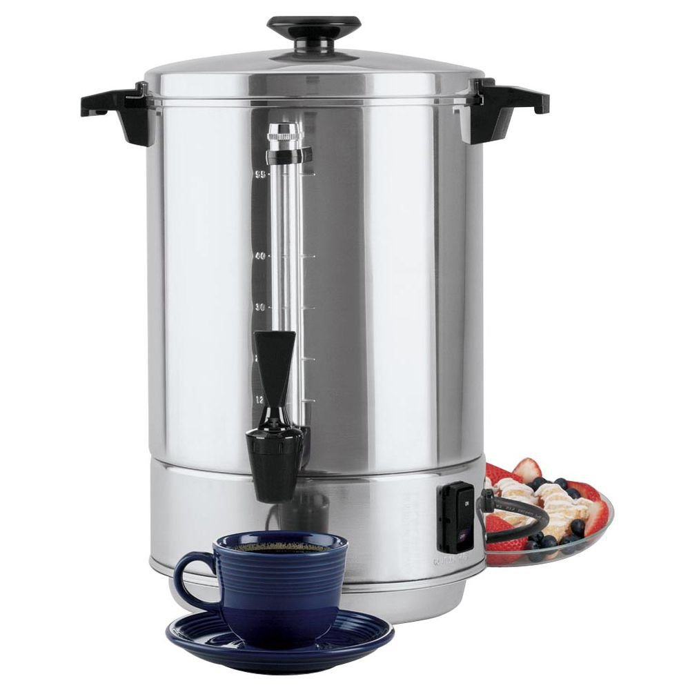 Focus WestBend 55 cup Aluminum Commercial Coffee Percolator - 13 1/2''Dia x 17''H by FOCUS FOODSERVICE LLC (Image #1)