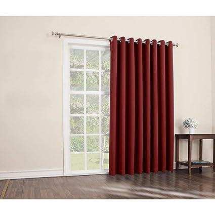 Amazoncom 1 Piece 84 Inch Red Solid Color Sliding Door
