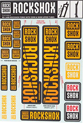 RockShox Decal Kit - 30/32mm Orange, 30/32mm, SID, Reba, Revelation