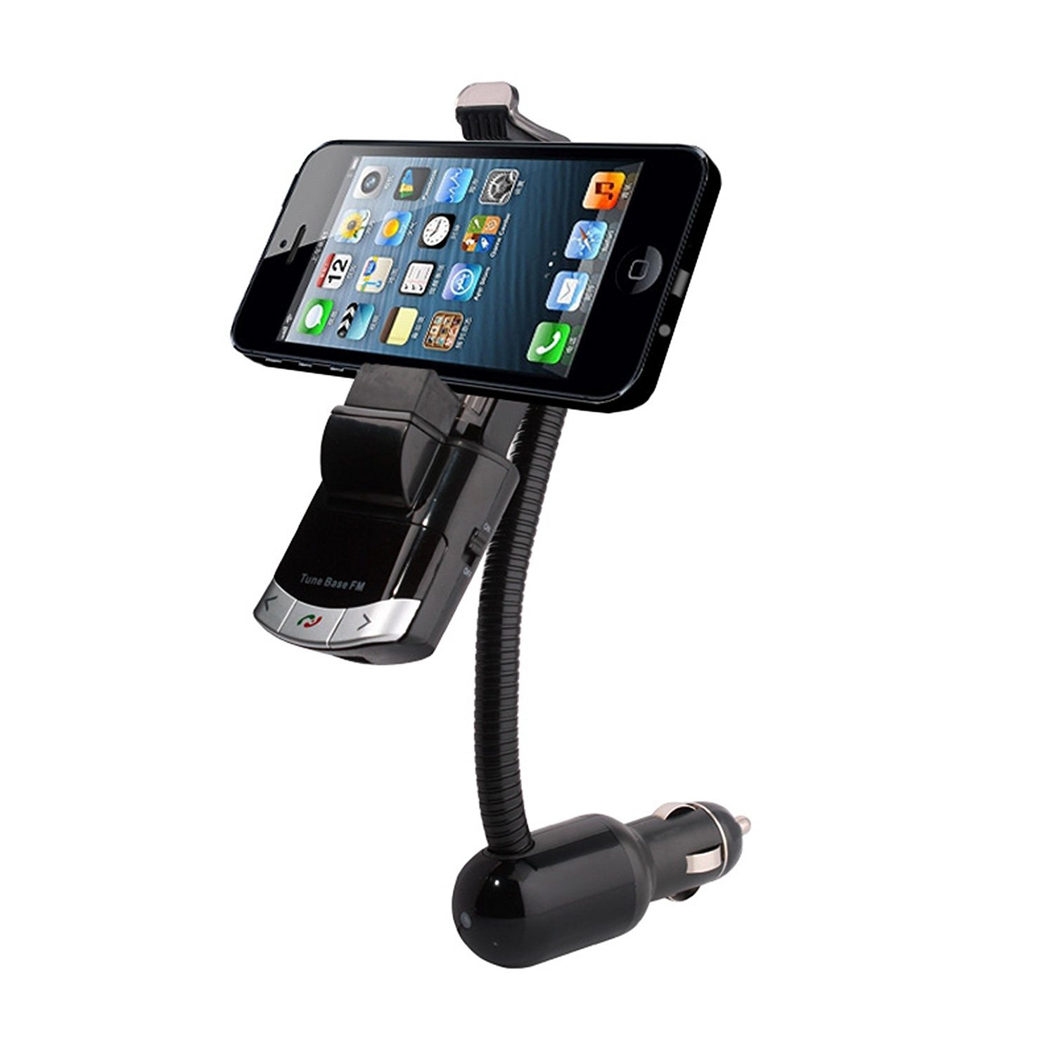 Multi-functional Cell phone Mount Holder GPS and MP3 Player Car USB Charger for iPhone Samsung Smart Phones Tablets iPad Mini etopbest 4351480576 Wireless Bluetooth FM Transmitter Car Kit Hands free Calling