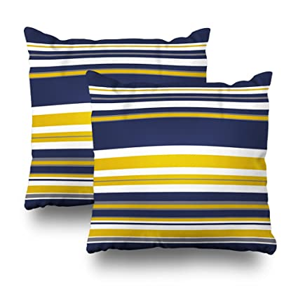 Amazon Soopat Decorative Pillows Covers 40X40 Set Of 40 Two New Navy And Yellow Decorative Pillows