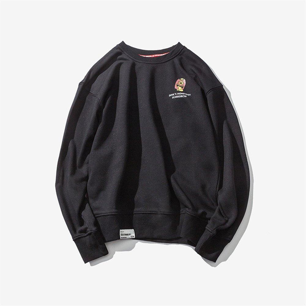 Ndsoo männer - Pullover Pullover japanische Comic - Winter - Mode - Trend der personalisierten männer Pullover,schwarz,l