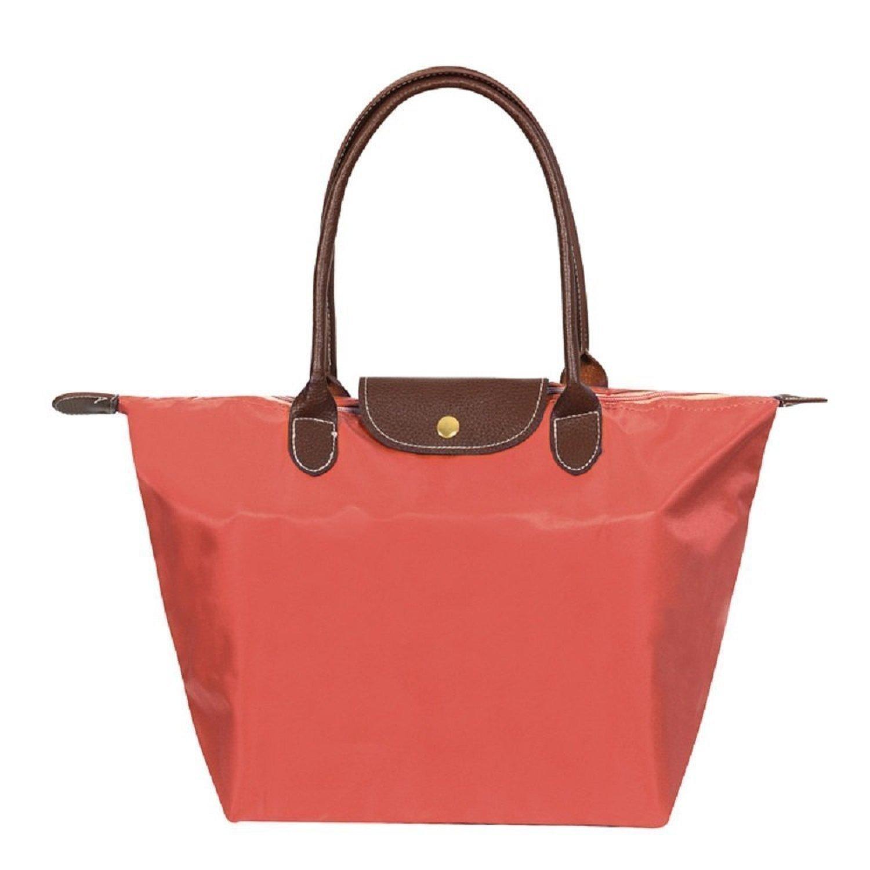 ZhengYue Women's Stylish Waterproof Zipper Tote Bag Handbag Nylon Travel Shoulder Beach Messenger Bags Ladies Shopping Fold Bag Casual Bags Fold Bag