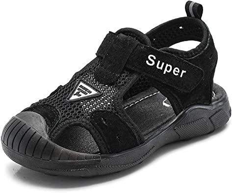 Navoku Leather Athletic Closed Toe Hiking Sandals for Boys