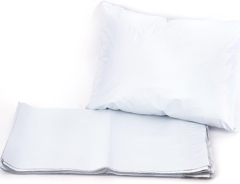 50pcs Bolsas de Envios Bolsas Sacos Sobres Postales para Envios por Correo Bolsas de Plastico Blanco (150X230MM)