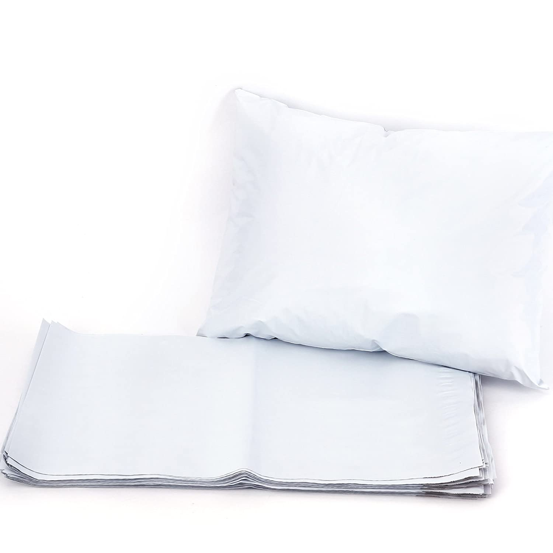 Lot de 50 sacs postaux robustes en polyé thylè ne blanc avec fermeture adhé sive 6' x 9'(150mm x 230mm) rose Surepromise