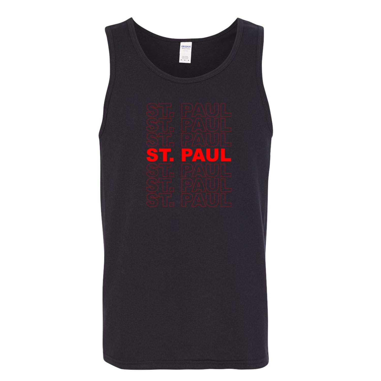 Red Box Logo St Paul City Pride Mens Graphic Tank Top