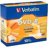 Verbatim DVD-R 4.7GB 16x Recordable Media Disc - 10 Disc Slim Case
