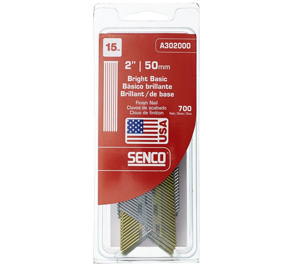 Senco A302000 15 Gauge by 2 Inch Bright Basic Finish Nail