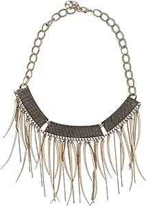 Loco Foco Women's Metal Bib Necklace
