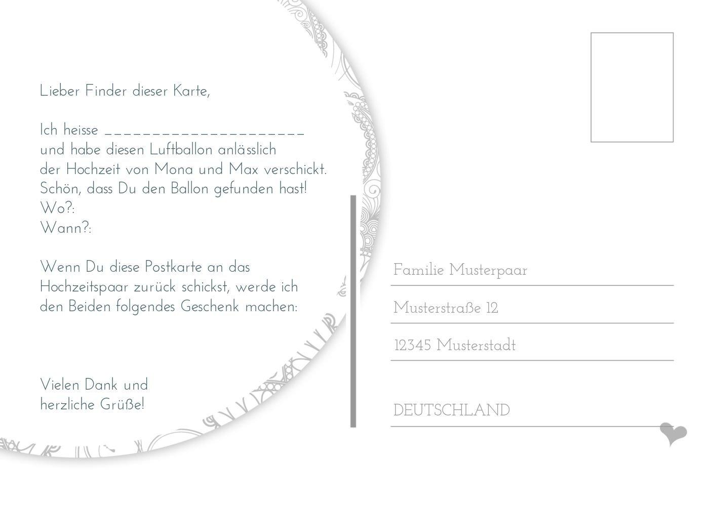 Ballonkarte Traumhochzeit, 80 Karten, Weiß B07CQDSK3R | Sonderpreis  Sonderpreis  Sonderpreis  | Bekannt für seine schöne Qualität  | Angemessene Lieferung und pünktliche Lieferung  62103f
