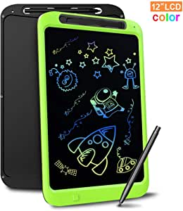Richgv LCD Writing Drawing Tablet 12 Inch Electronic Writing and Drawing Doodle Board Digital Writing Pad Toys with Stylus Pen for Baby Kids Adults at Home Office and School(Green) (12 Inch)