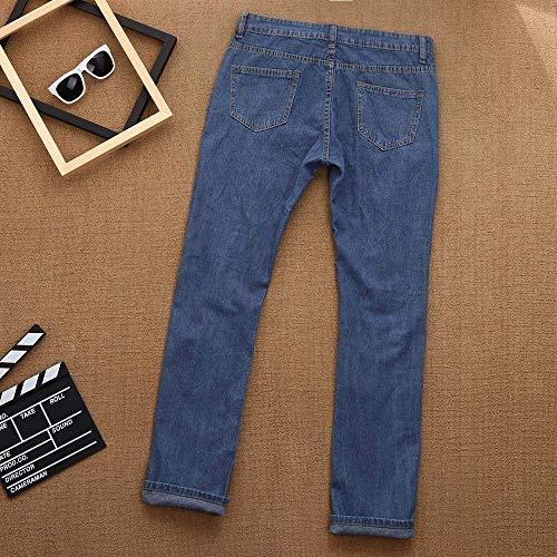 Alta Delgados Stretch Estiramiento Cintura Mujeres Cher Pantalones De Mezclilla Rasgados Huixin Agujero Blue Vaqueros Sexy Distressed Agujeros Deporte WPvqzcg