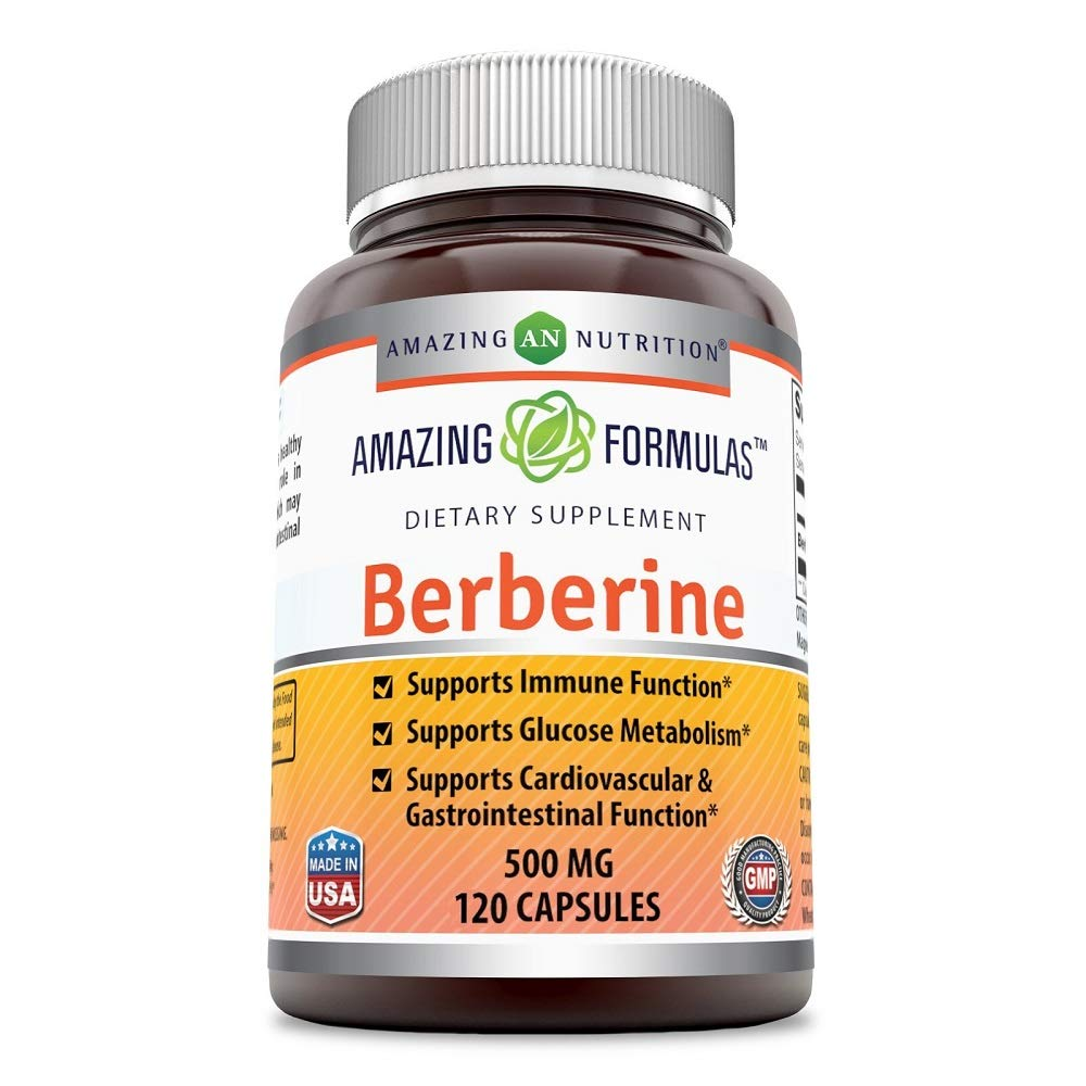 Amazing Nutrition Amazing Formulas Berberine Plus 500mg 120 Capsules product image