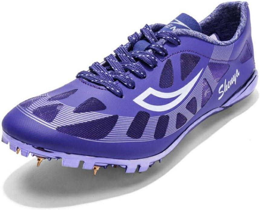YXZNB Zapatos De Atletismo para Hombres, 8 Zapatillas De Clavos Zapatillas De Entrenamiento Ligeras Y Transpirables Adecuadas para Correr,Púrpura,39: Amazon.es: Hogar