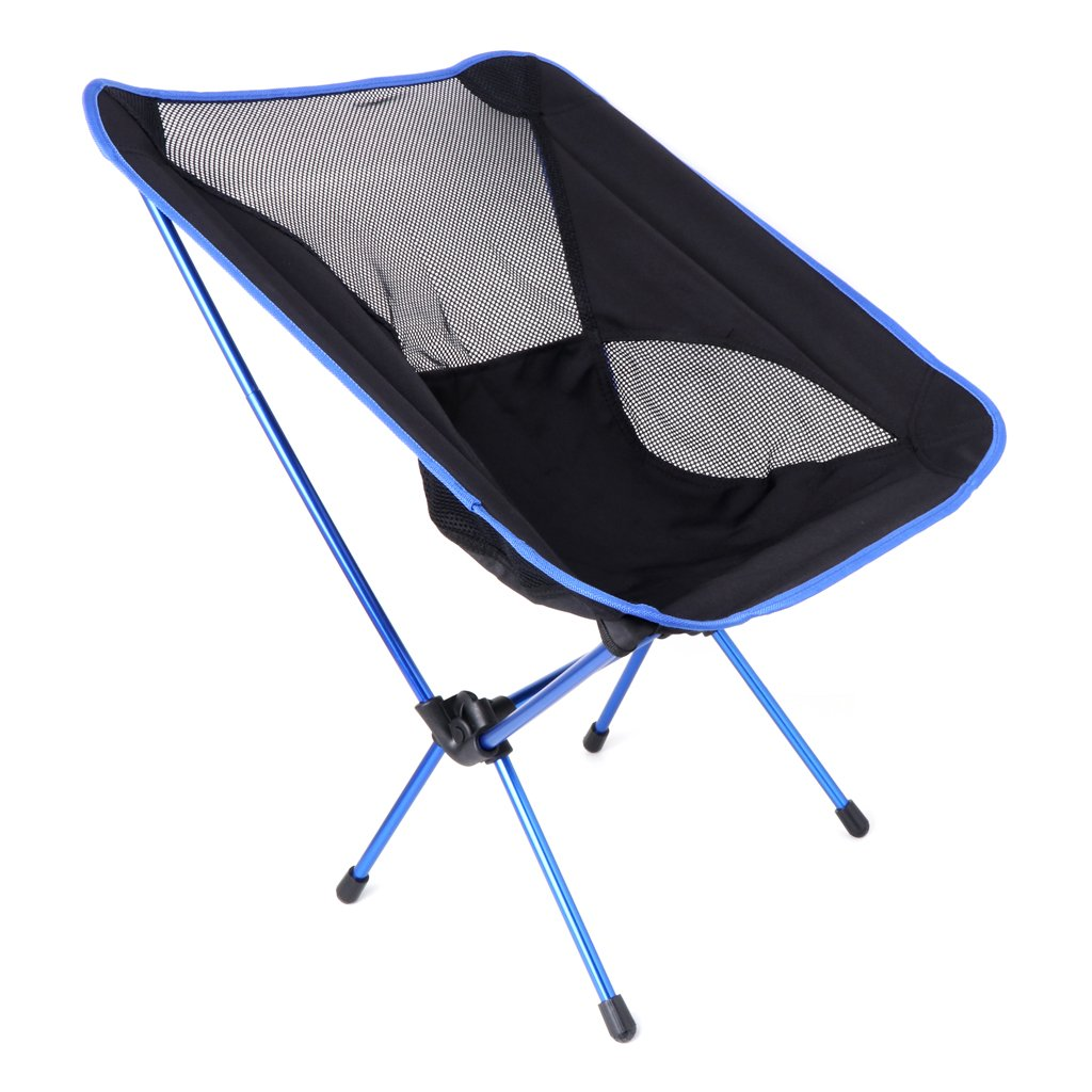 ULKEME  Ultra Light Folding Fishing Chair Seat Outdoor Camping Leisure Picnic Beach Tool Deep Blue