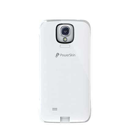 brand new b9e6c 0de3e PowerSkin Spare Rechargeable Battery Case for Samsung Galaxy S4 - Retail  Packaging - White