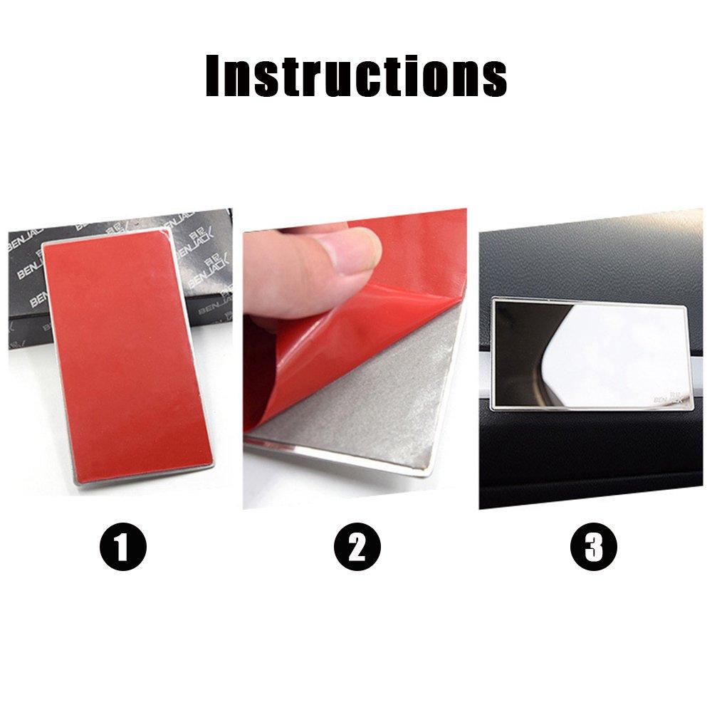 Adecuado para La Parte Posterior del Asiento para Ni/ños Espejo Retrovisor Interior Ajustable En 360 /° Coche Beb/é Youkara 100/% Inastillable