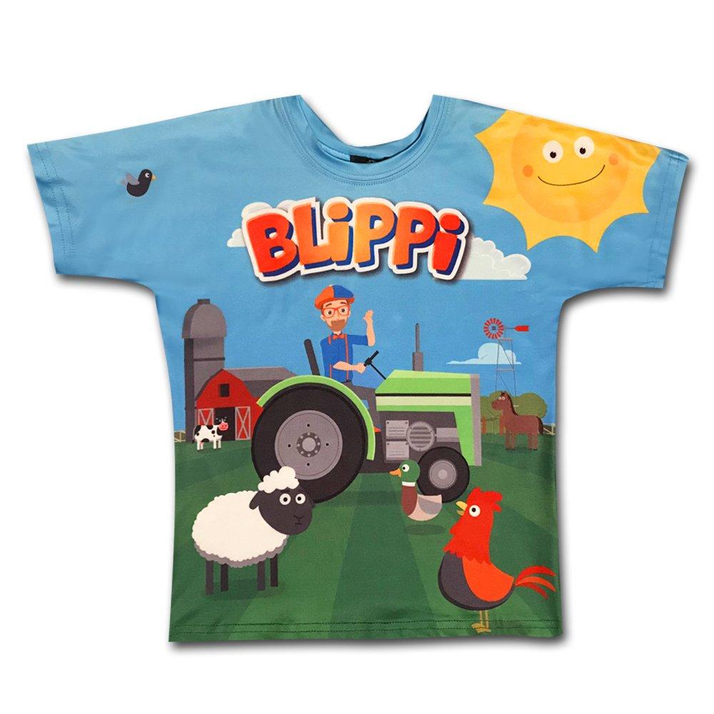 BLIPPI LLC Child Tractor Shirt for Kids by Blippi (4T)