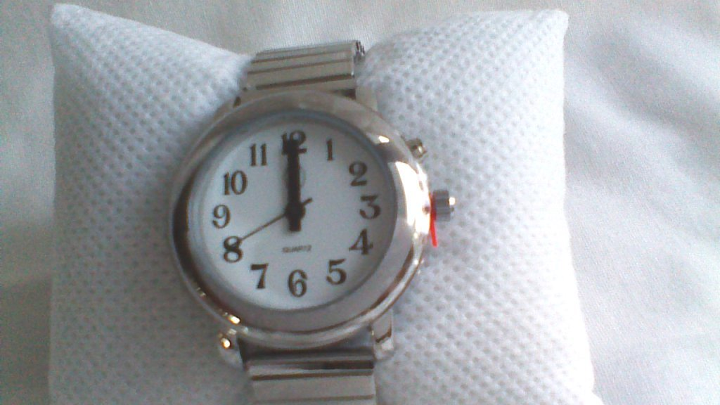 Ladies Talking Wrist Watch Silver Tone for the Blind and Low Vision