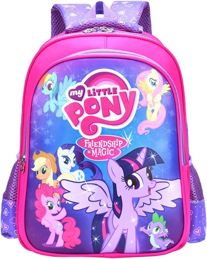 MY L. Pony Backpacks Bookbag Cute Pony Princess Style School Book Waterproof Multi Storey Bags