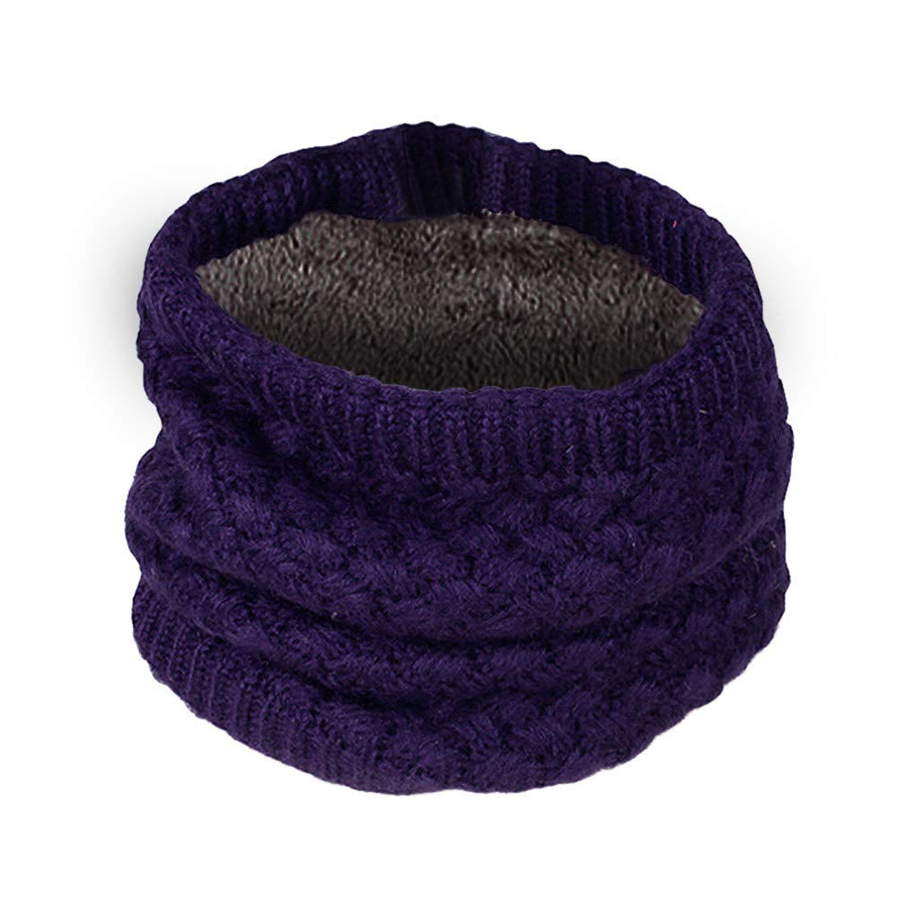 TM Lovers Men Women Winter Keep Warm Solid Color Knit Cowl Neck Scarf Ring Scarf Jchen