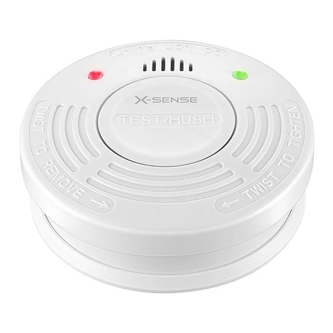 X-Sense SD10A Detector de Humo con Sensor Fotoeléctrico Alarma de Incendio con Batería de 10 Años de Duración Reinicio Automático Fácil Instalación: ...