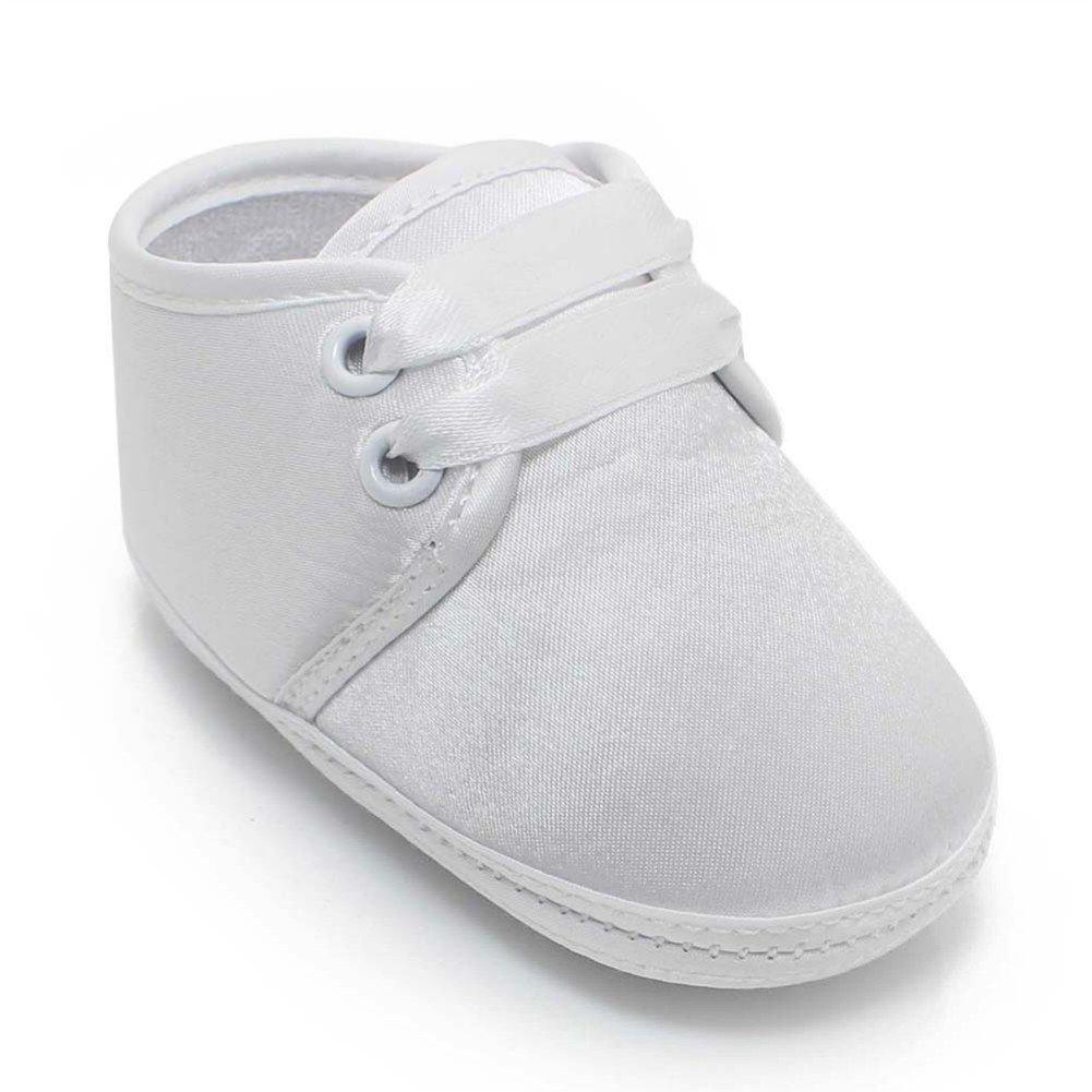 OOSAKU B/éb/é Chaussures Stain Bapt/ême Chaussures De Bapt/ême Blanc Pantoufles