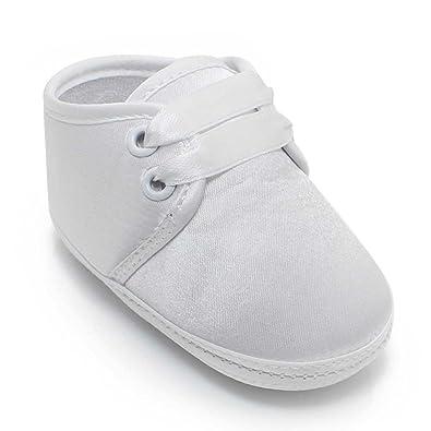 805a69ea4c5db OOSAKU Bébé Chaussures Stain Baptême Chaussures De Baptême Blanc Pantoufles  0-12 Mois