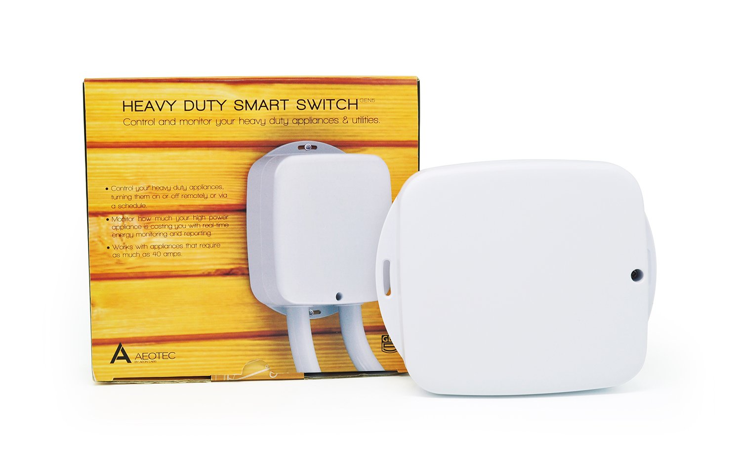 Aeotec Heavy Duty Smart Switch, control automate record electricity consumption Z-Wave Plus 40 amps Aeon Labs AEO_HDS