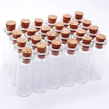 2 ml frascos de vidrio Mini botellas pequeñas mensaje bodas Wish Joyería Party Favors Decoración botellas