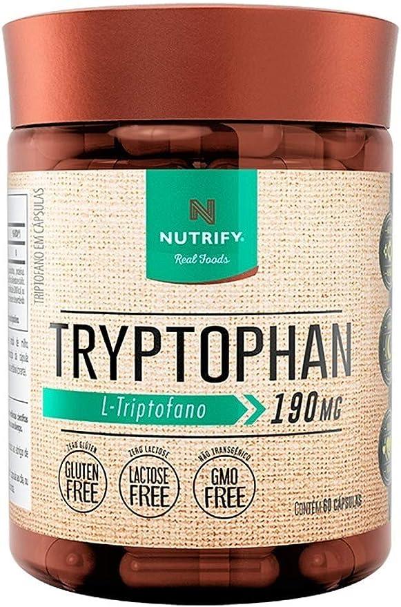 Triptofano 5htp Serotonina 60 Cáps Tryptophan Nutrify 500mg por Nutrify