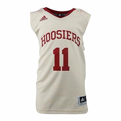 c439a1a3930 adidas Indiana Hoosiers NCAA Tan Official Home Replica #11 Basketball Jersey  for Boys (4