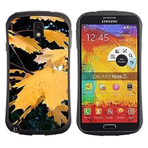 "Hypernova Slim Fit Dual Barniz Protector Caso Case Funda Para Samsung Note 3 [Otoño Otoño Amarillo Rain Tree Naturaleza""]"