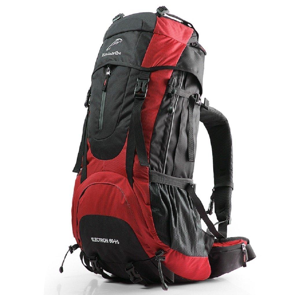 Bergsteigertasche M?nner und Frauen Umh?ngetasche 65L Outdoor-Rucksack mit gro?er Kapazit?t wasserdichte Wander Camping-Paket