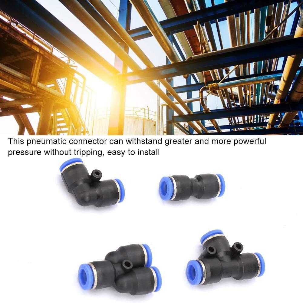 Connettore pneumatico per aria in plastica 40 pezzi raccordi rapidi per aria compressa in plastica PU8 PV8 PE8 PY8 ad alta pressione per casa industriale
