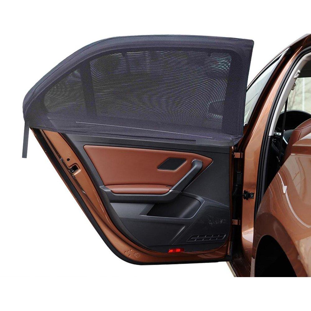 Fontic 2 Pièces Pare-Soleil pour vitre de voiture Auto Fenêtre Latérale Parasol universel Pliable de Voiture Visibilité maximale Protection Maximale contre les rayons UVA pour les nourrissons, les e