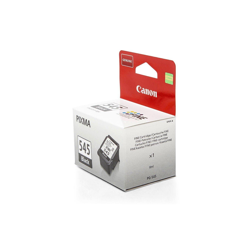 Original Canon 8287B001 / PG-545BK tinta (negro, aprox. 180 Páginas, volumen 8 ml) para Pixma IP 2850, MG 2450, MG 2455, MG 2550, MG 2555, MG 2950, MX ...