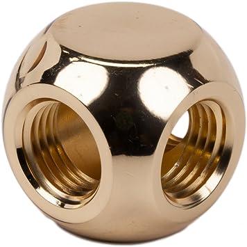 Barrow G1//4 Inner Thread Brass 3-Way Splitter PC Water Cooling Tube Fittings Whi