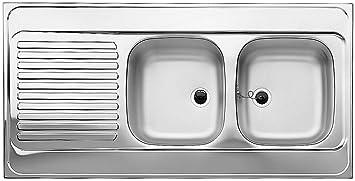 Blanco Auflagespülbecken RZS 12 x 6-2 Edelstahl Einbau Spüle Spülbecken  Küche