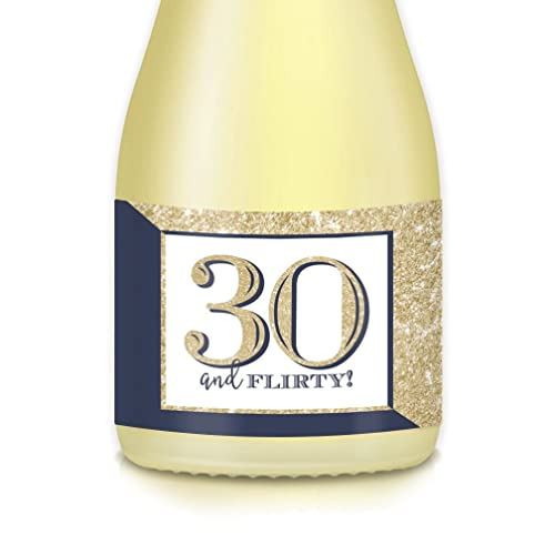 Womans 30th Birthday Gift Ideas Mini Champagne Wine Bottle Labels 20 Count 30 And FLIRTY Decals 35 X 175 Celebrate Wife Mom Sister