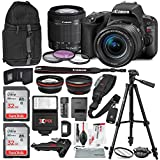 Canon EOS Rebel SL2 DSLR Wi-Fi Camera with EF-S 18-55mm STM Lens (Black) Bundle w/Flash + Lenses + Filters + 32GB + Backpack + Xpix Tripods & Cleaning Kit