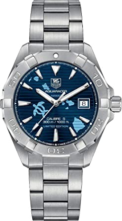 Tag Heuer Aquaracer Hawaii Limited Edition 40 5mm Men S Watch Way2119 Ba0928