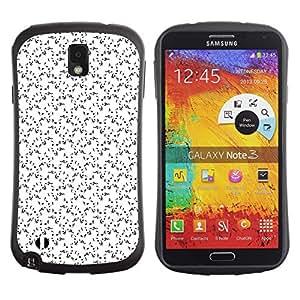 DesignCase Premium TPU / ABS Hybrid Back Case Cover Samsung Galaxy Note 3 III ( music note )