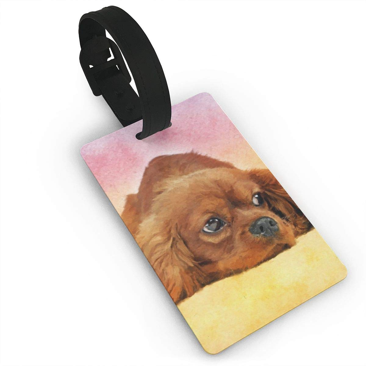 Set of 2 Cavalier king charles spaniel Luggage Tags Suitcase Labels Bag Travel Accessories