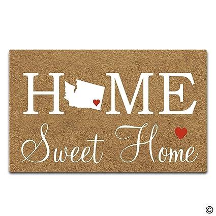 Amazon.com: Artswow - Felpudo con diseño de casa dulce y ...